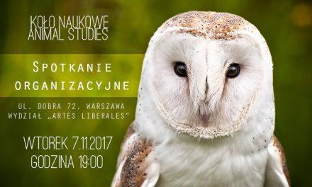 Spotkanie organizacyjne Studenckiego Koła Naukowego Animal Studies