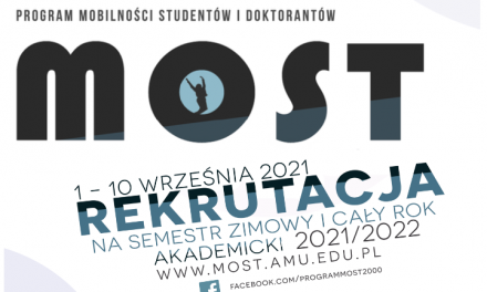 Program MOST na rok akademicki 2021/22
