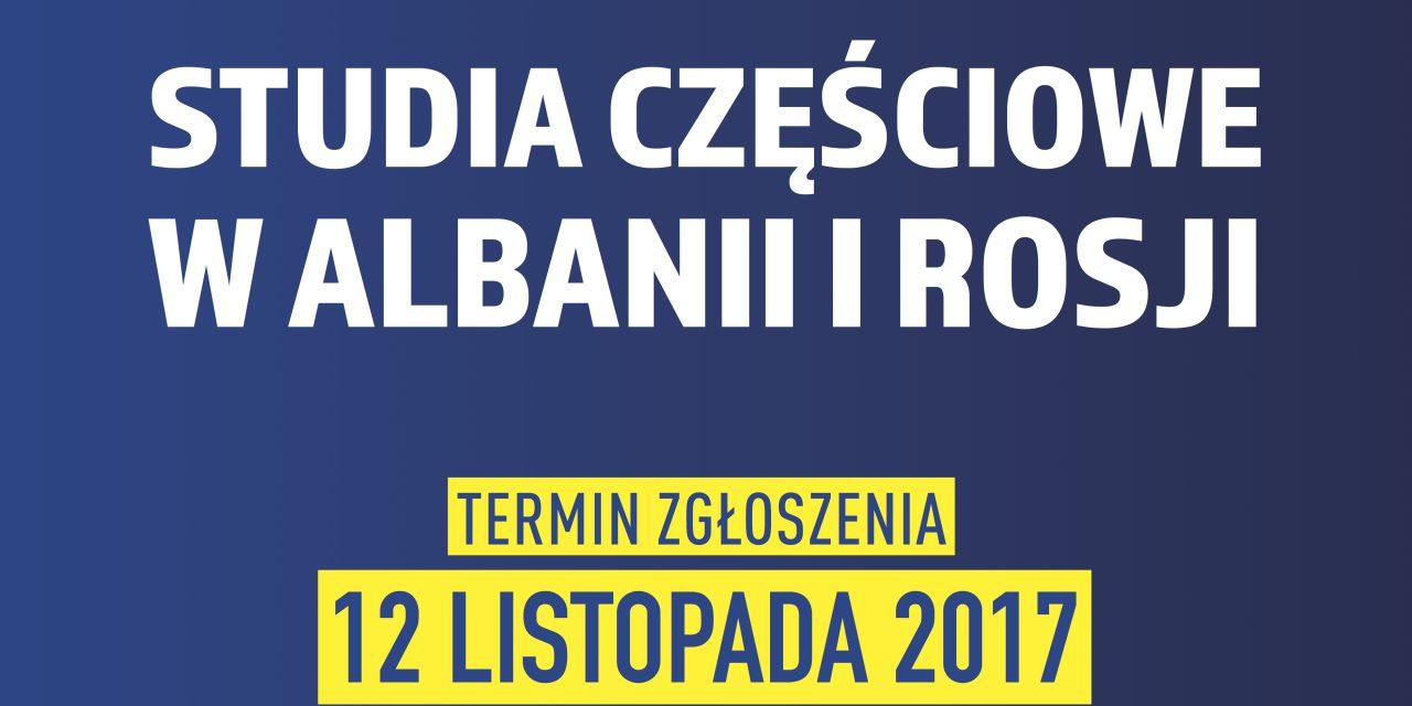 Wyjazdy Erasmusowe na studia częściowe w Albanii i Rosji