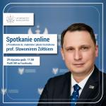 [Odwołane] Spotkanie online z prorektorem ds. studentów i jakości kształcenia, prof. Sławomirem Żółtkiem